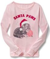 Gap Santa paws PJ tee