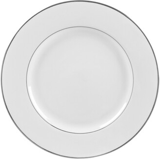 Ten Strawberry Street Set Of 6 Silver Double Line Luncheon Plates