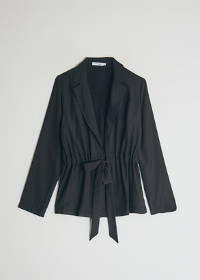 Maja Stelen Women's Tie Closure Jacket in Black, Size Small