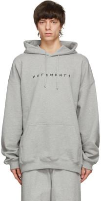 Vetements Grey Friendly Logo Hoodie