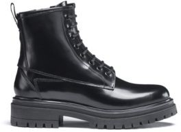 HUGO Lace-up ankle boots in lustrous Italian leather