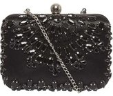Dorothy Perkins Womens Black Jewel Box Clutch- Black