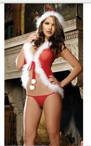 S.MILE Christmas lingerie perspective net yarn Christmas clothes Christmas girl