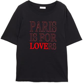 Sandro Pary Flocked Printed Cotton-jersey T-shirt