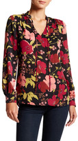Laundry by Shelli Segal Printed Tie Blouse
