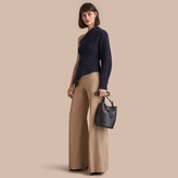 Burberry Cotton Twill Wide-leg Trousers