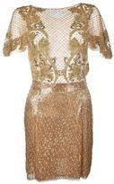 Amen Embroidered Short Dress