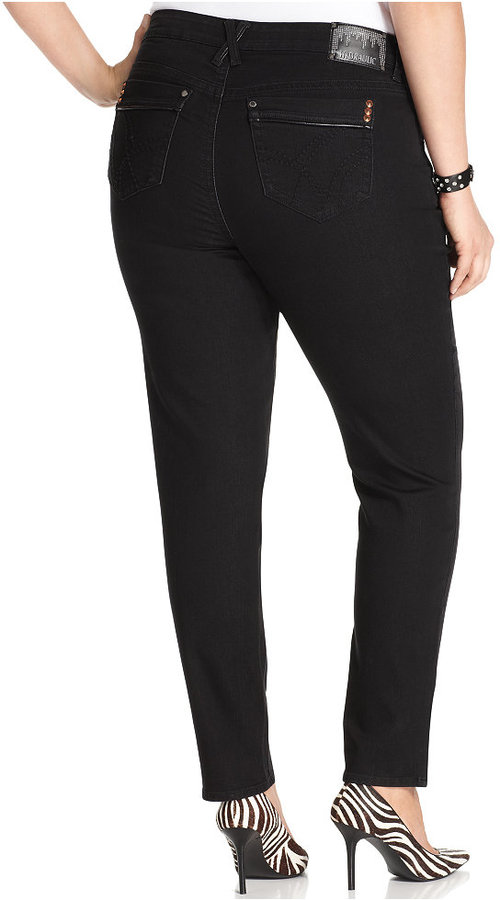 Hydraulic Plus Size Bailey Super Skinny Jeans, Black Wash