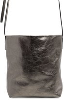 Ann Demeulemeester Metallic Leather Bucket Shoulder Bag