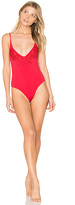 MinkPink Forbidden Fruit Lace One Piece in Red. - size L (also in )