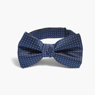 J.Crew Pre-tied silk dot bow tie