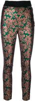 Dolce & Gabbana jacquard leaf print trousers - women - Polyester - 40