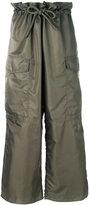 MM6 MAISON MARGIELA wide leg cargo trousers - women - Polyamide/Polyester - 38