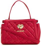 Love Moschino quilted barrel tote