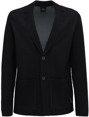 Armani Exchange Cotton Knit Blazer