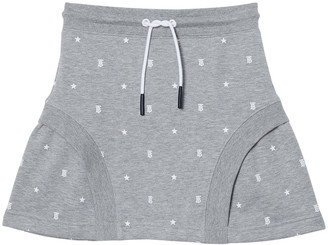 Burberry Girl's Zia Star & TB Monogram Flared Skirt, Size 3-14