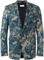 Dries Van Noten all-over print, single fastening blazer with pockets
