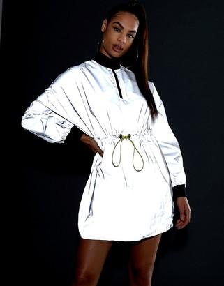 ASOS DESIGN reflective track dress