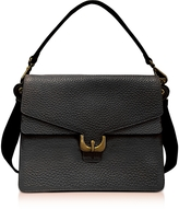 Coccinelle Ambrine Black Bubble Leather Satchel Bag