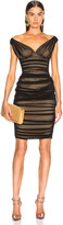 Norma Kamali Tara Dress in Black Mesh   FWRD