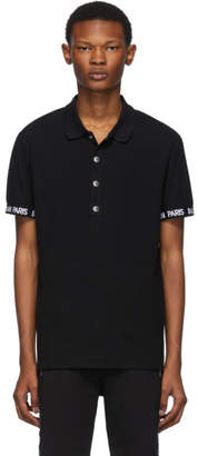 Balmain Black Logo Trim Polo