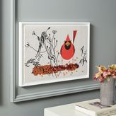 west elm Charley Harper Tapestry Wall Art - Red and Fed (Cardinal on Corn)