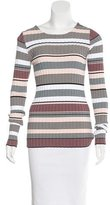 Elizabeth and James Rib Knit Striped Sweater
