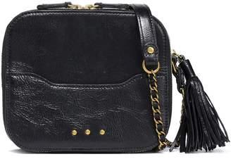 Jerome Dreyfuss Tasseled Textured-leather Shoulder Bag