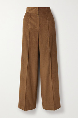 Three Graces London Jude Cotton-corduroy Wide-leg Pants - Brown