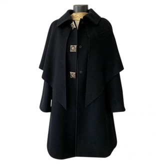 Chanel Black Wool Coat for Women