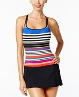 Jag Reactive Striped Cross-Back Swimdress