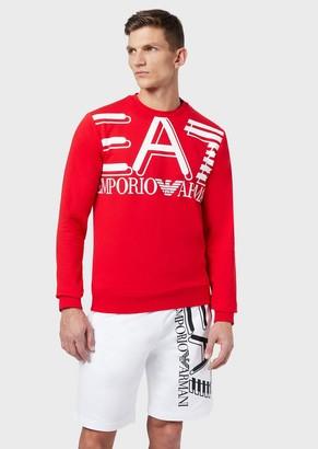 Ea7 Crew-Neck Sweatshirt With Maxi Logo Print
