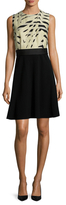 Max Mara Nervoso Trimmed Flared Dress