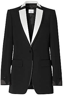Burberry Women's Natalie Tux Contrast Lapel Wool Jacket