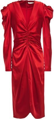 Jonathan Simkhai Gathered Satin Dress