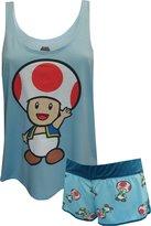 MJC Nintendo Super Mario Toad Shortie Pajama for women