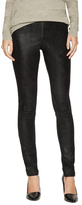 Alice + Olivia Leather Exposed Front Zip Legging