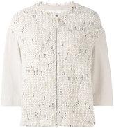 Fabiana Filippi cropped sleeve jacket - women - Cotton/Polyamide/Polyester/PBT Elite - 42