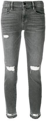 Frame distressed detail jeans