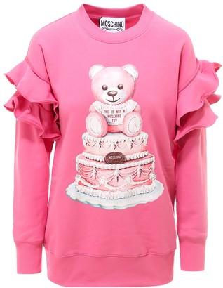 Moschino Teddy Cake Ruffled Sweatshirt