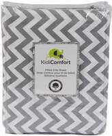 Kidiway 1570 kidicomfort Fitted Sheets - 100% Cotton - Grey Chevron