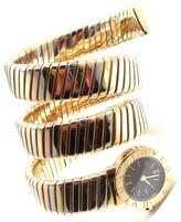 Bulgari 18K Tricolor Gold Tubogas Serpent Bracelet Womens Watch