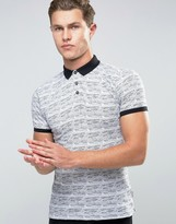 Bellfield Jaquard Polo Shirt