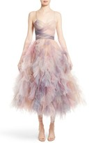 Marchesa Women's Watercolor Tulle Dress
