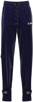 Off-White Velvet Nylon Track Pants