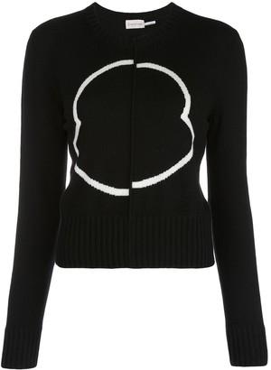 Moncler logo-intarsia crew neck sweater