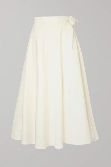 Envelope1976 - Lembongan Wool Wrap Midi Skirt - Cream