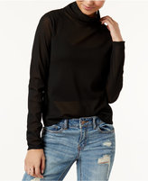 Rachel Roy Semi-Sheer Turtleneck, Created for Macy's
