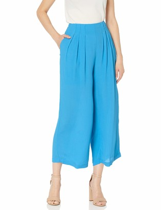 J.o.a. Women's Wide Leg Cropped Pants with Pockets