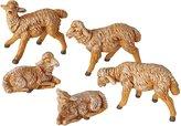 "Fontanini by Roman Fontanini 5-Peice 5"" White Sheep Nativity Figurines"